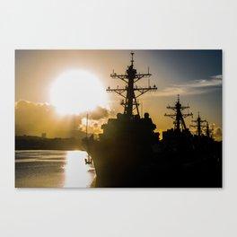 Pearl Harbor Sunrise Canvas Print