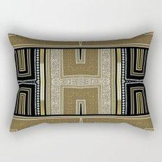 Gold Black Glam ArtDeco X5 Rectangular Pillow