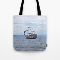 pirate Tote Bags featuring Pirate by Caio Trindade