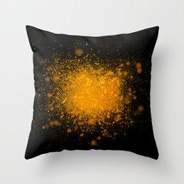 golden dust explosion Throw Pillow