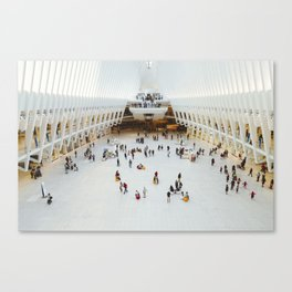 People in Oculus,  New York Canvas Print