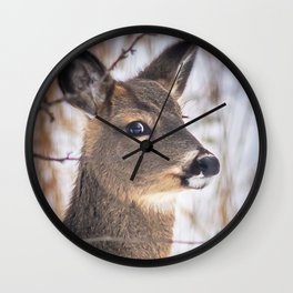 January Whitetail Wall Clock