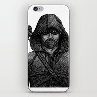green arrow iPhone & iPod Skins featuring Arrow by Jack Kershaw