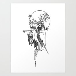 Major Arcana IX The Hermit Art Print