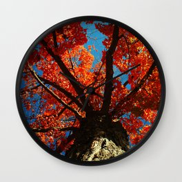 Trees on Fire Wall Clock