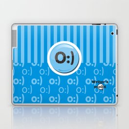 Blue Writer's Mood Laptop & iPad Skin