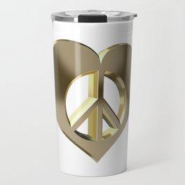 Love and peace Travel Mug