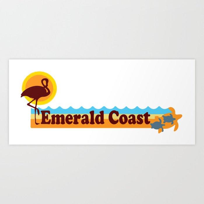 Emerald Coast -Florida. Art Print