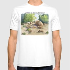 A Walk In the Arboretum MEDIUM Mens Fitted Tee White