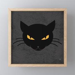 Evil Kitty Framed Mini Art Print