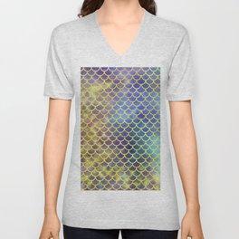 Rainbow Mermaid Scales Pattern Unisex V-Neck