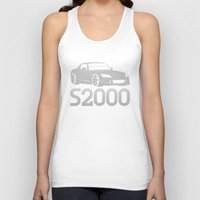honda Tank Tops featuring Honda S2000 - silver - by Vehicle