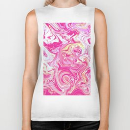 WHIRLING PINK AND GOLD Biker Tank
