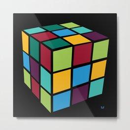 Rubiks Cube Metal Print