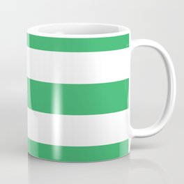 Asda Green (2002) - solid color - white stripes pattern Coffee Mug