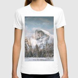 Yosemite's Snow Capped Half Dome T-shirt