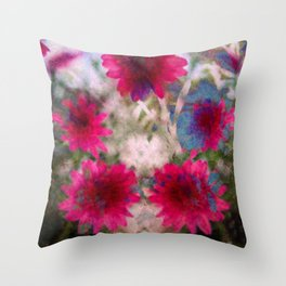 flowers abstract Throw Pillow