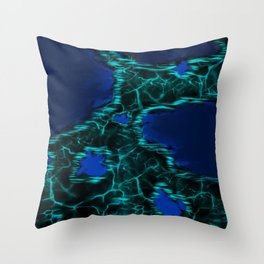 The Blue Shallow Waters at Night Throw Pillow
