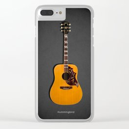 The Hummingbird Acoustic Guitar Clear iPhone Case