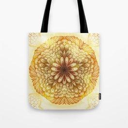 Hand Drawn Floral Mandala 04 Tote Bag