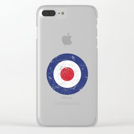 Roundel British Plane Target Distressed & Worn MOD 60s Britain Clear iPhone Case