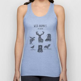 Wild animals in Sweden Unisex Tank Top