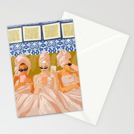 Ladies-Only Club #illustration #painting Stationery Cards