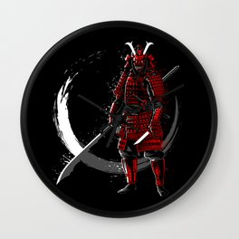 Circle of Samurai Wall Clock