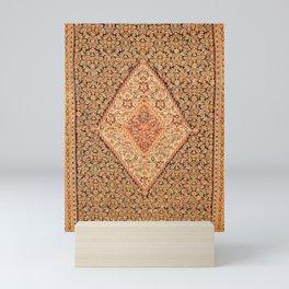 Senneh  Antique Kurdistan Northwest Persian Kilim Print Mini Art Print