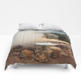 Volcano in Azores Comforters