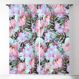 Vintage Pastel Aloha Blackout Curtain