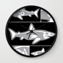Shark X-Ray Wall Clock