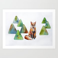 Like a Fox Art Print
