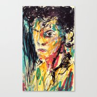 the strokes Canvas Prints featuring Strokes by Jason Ngai