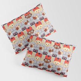 Baseball Orange and Grey - Super cute sports stars Pillow Sham