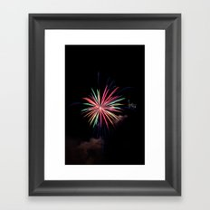 Star of Fireworks Framed Art Print