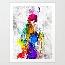 The Boss Bruce S. Grunge Art Print
