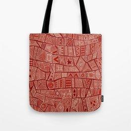 ESHE red mono Tote Bag