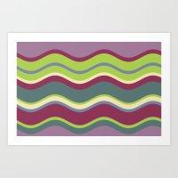 Lavender Shores Art Print