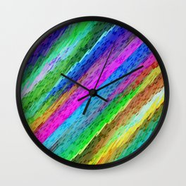 Colorful digital art splashing G478 Wall Clock