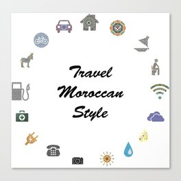 travel moroccan style Canvas Print