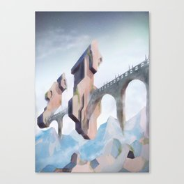 cloud bridge  Canvas Print