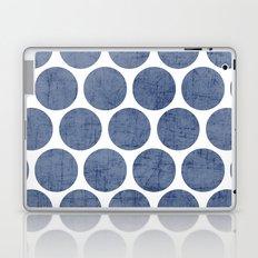 blue polka dots Laptop & iPad Skin