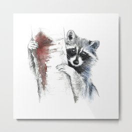 Raccoons III Metal Print