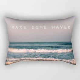 Make Some Waves Rectangular Pillow