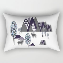 To Be Free In The Mountains Rectangular Pillow