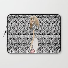 Red and Black Fashion Illustration Laptop Sleeve