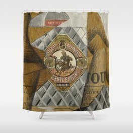 The Bottle of Anís del Mono by Juan Gris Shower Curtain