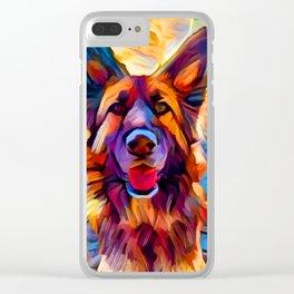German Shepherd 8 Clear iPhone Case
