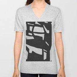 Black Expressionism XIX Unisex V-Neck